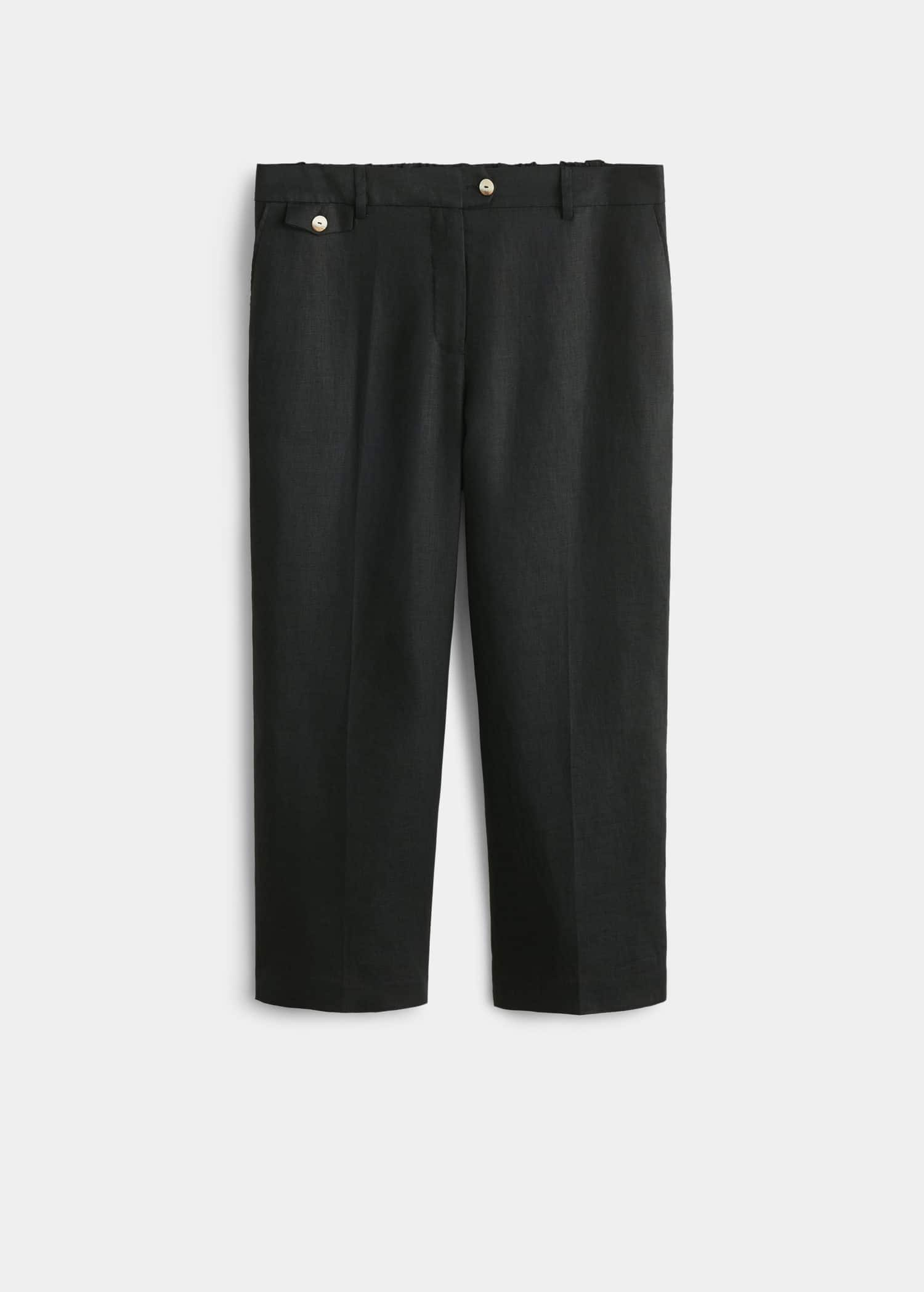 Pantalon droit lin Costumes Grandes tailles | Violeta by