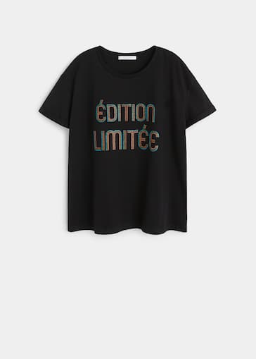cbfab389f5d Glitter message t-shirt - Plus sizes