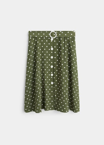 6d7c831a22 Polka dots midi skirt - Plus sizes | Violeta by Mango Croatia