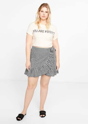 ba8e6c25abd Minifalda cuadros vichy - Plano medio. Selecciona tu talla