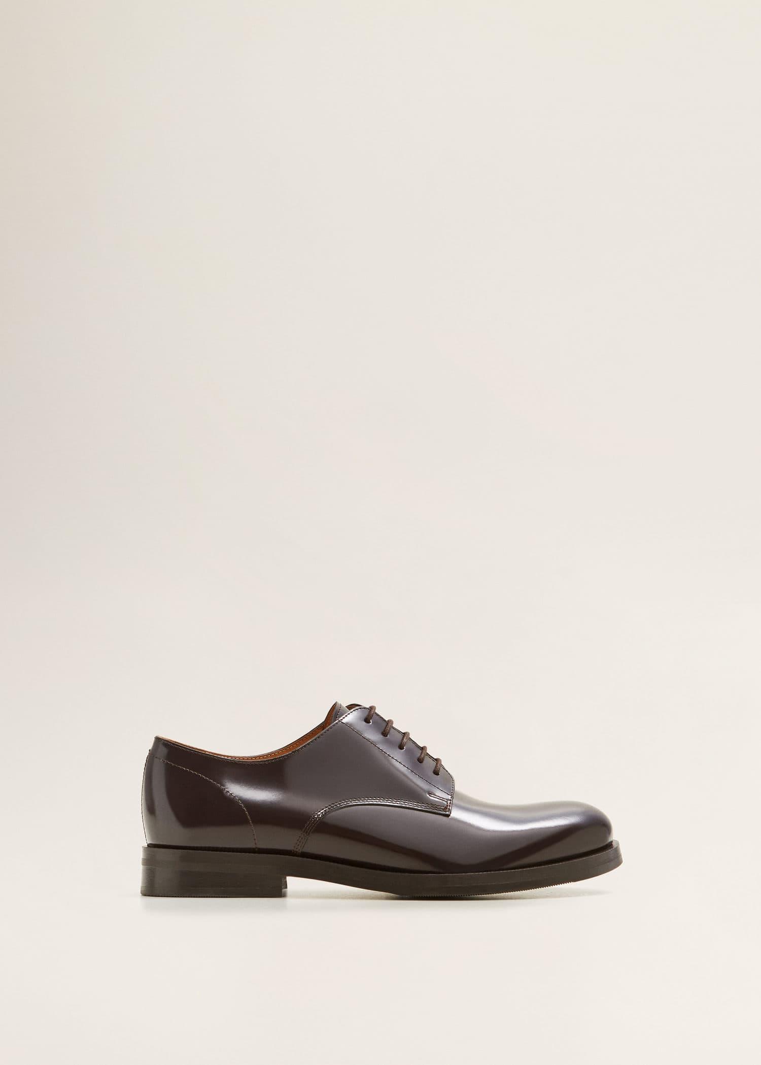 Zapato blucher piel Zapatos de Hombre | Mango Man España