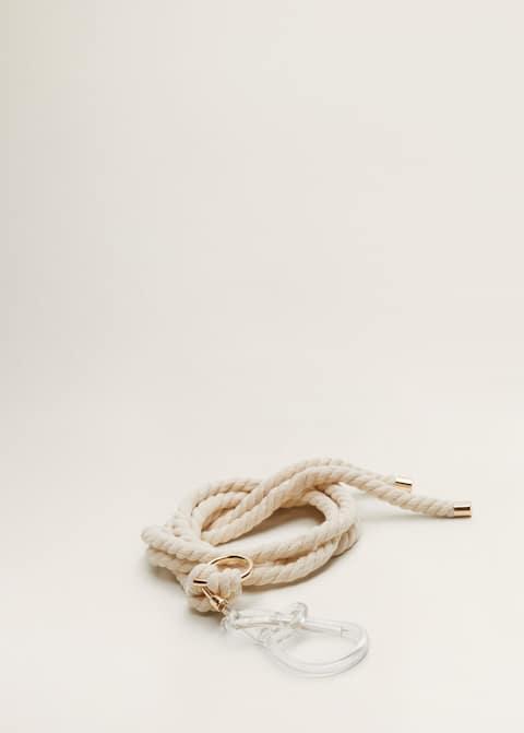 3f195b00b43 Ceinture corde boucle transparente - Femme