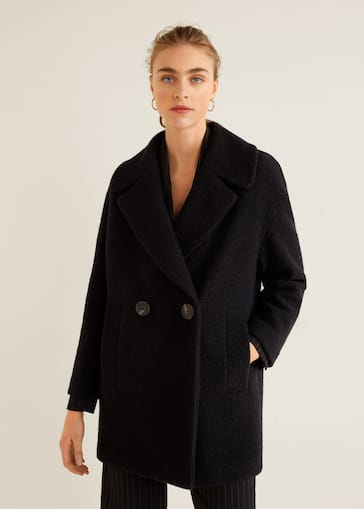 revendeur 7c818 83958 Lapels wool coat