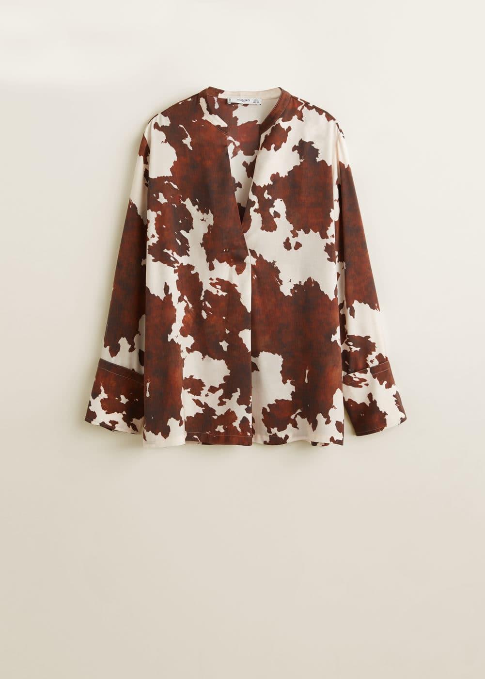 Blusa Estampado Vaca by Mango