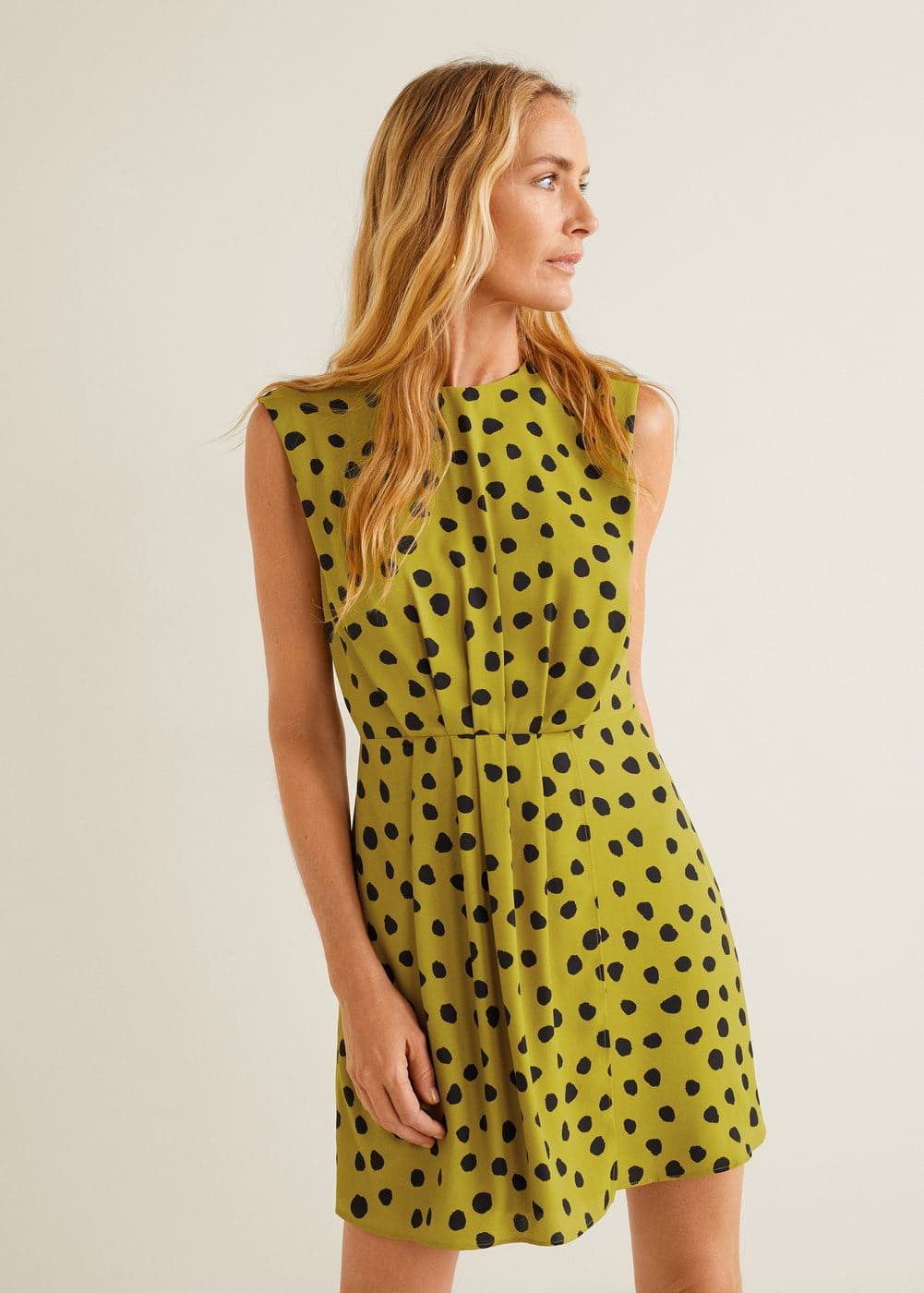 Šaty S Potiskem Puntíků by Mango