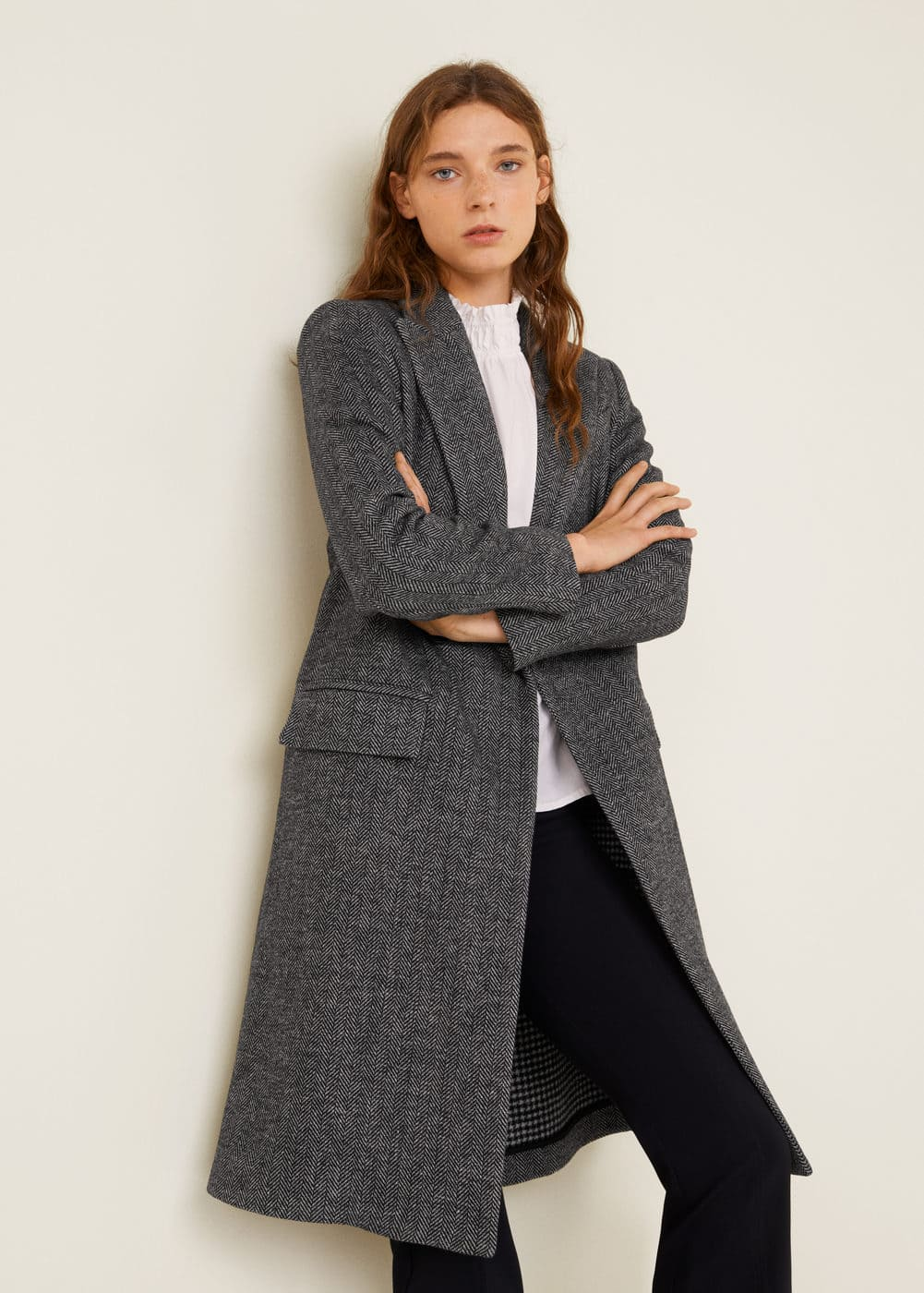 Lapels Structured Coat by Mango