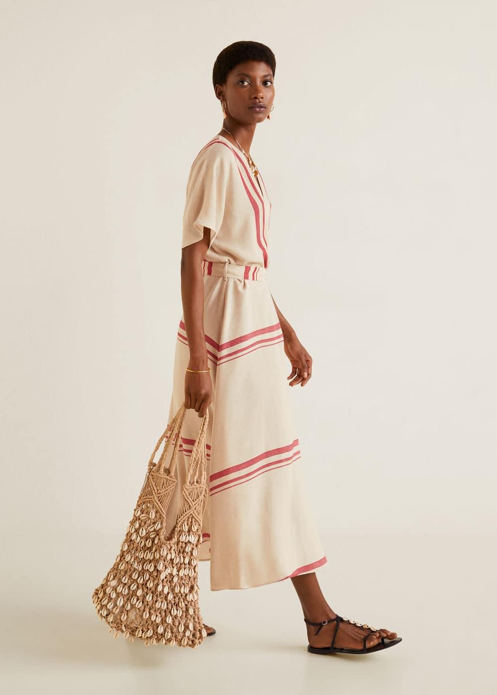 Robe à Rayures by Mango