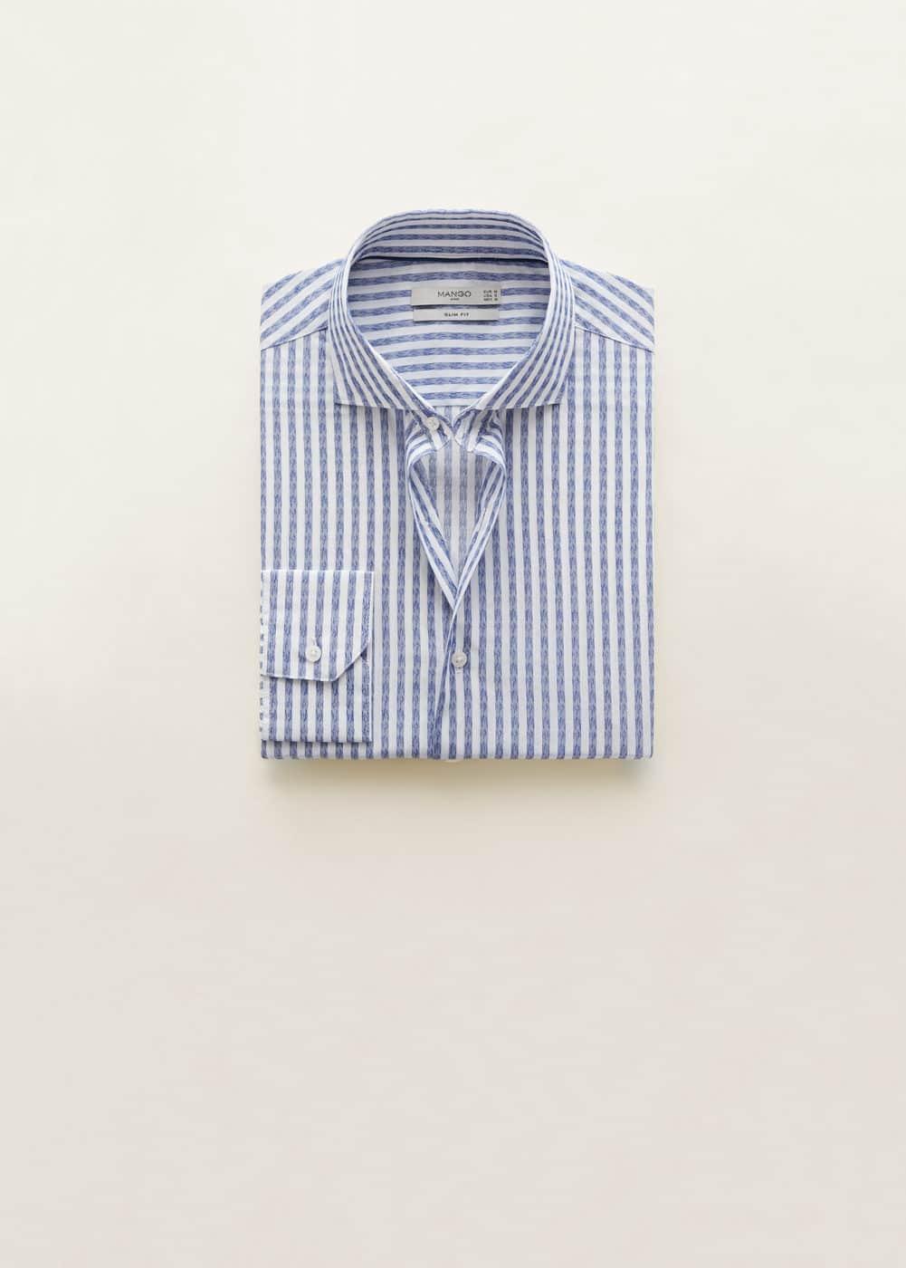 Mango - Slim-fit striped cotton shirt - 7