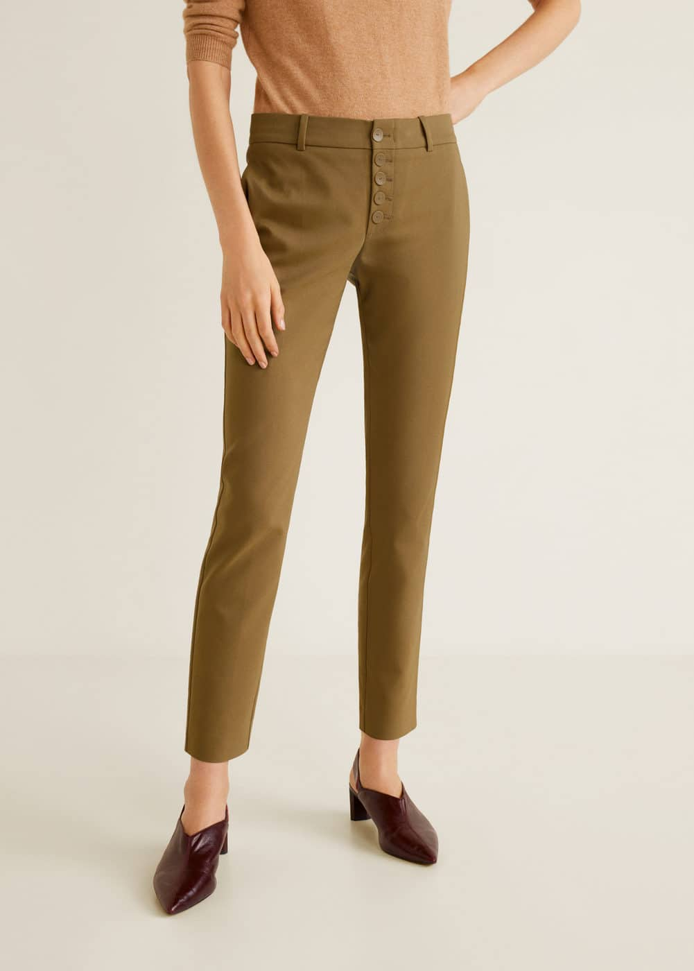 Mango - Buttons cotton trousers - 1