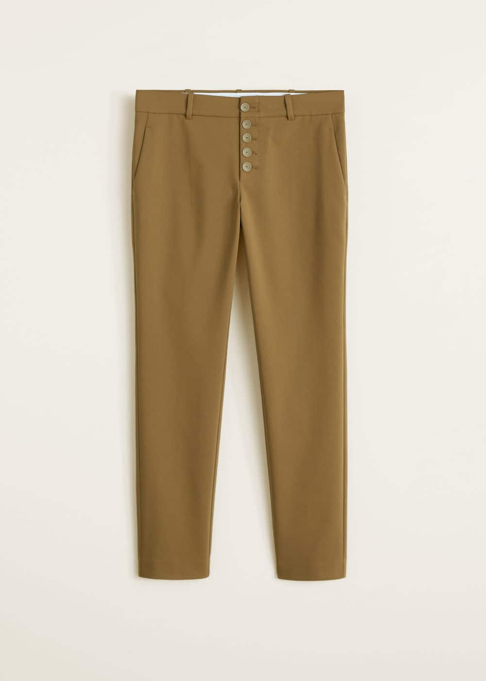 Mango - Buttons cotton trousers - 5