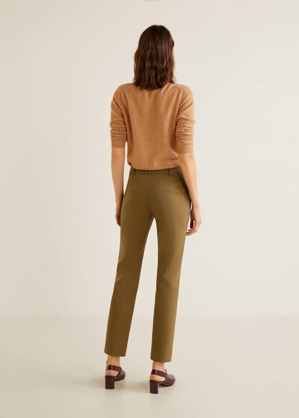 Mango - Buttons cotton trousers - 3