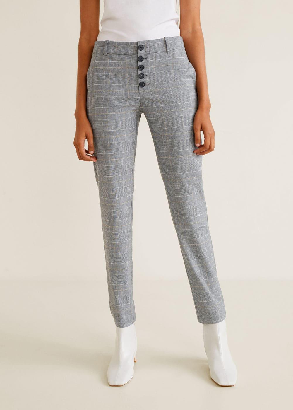 Mango - Pantalón algodón botones - 1