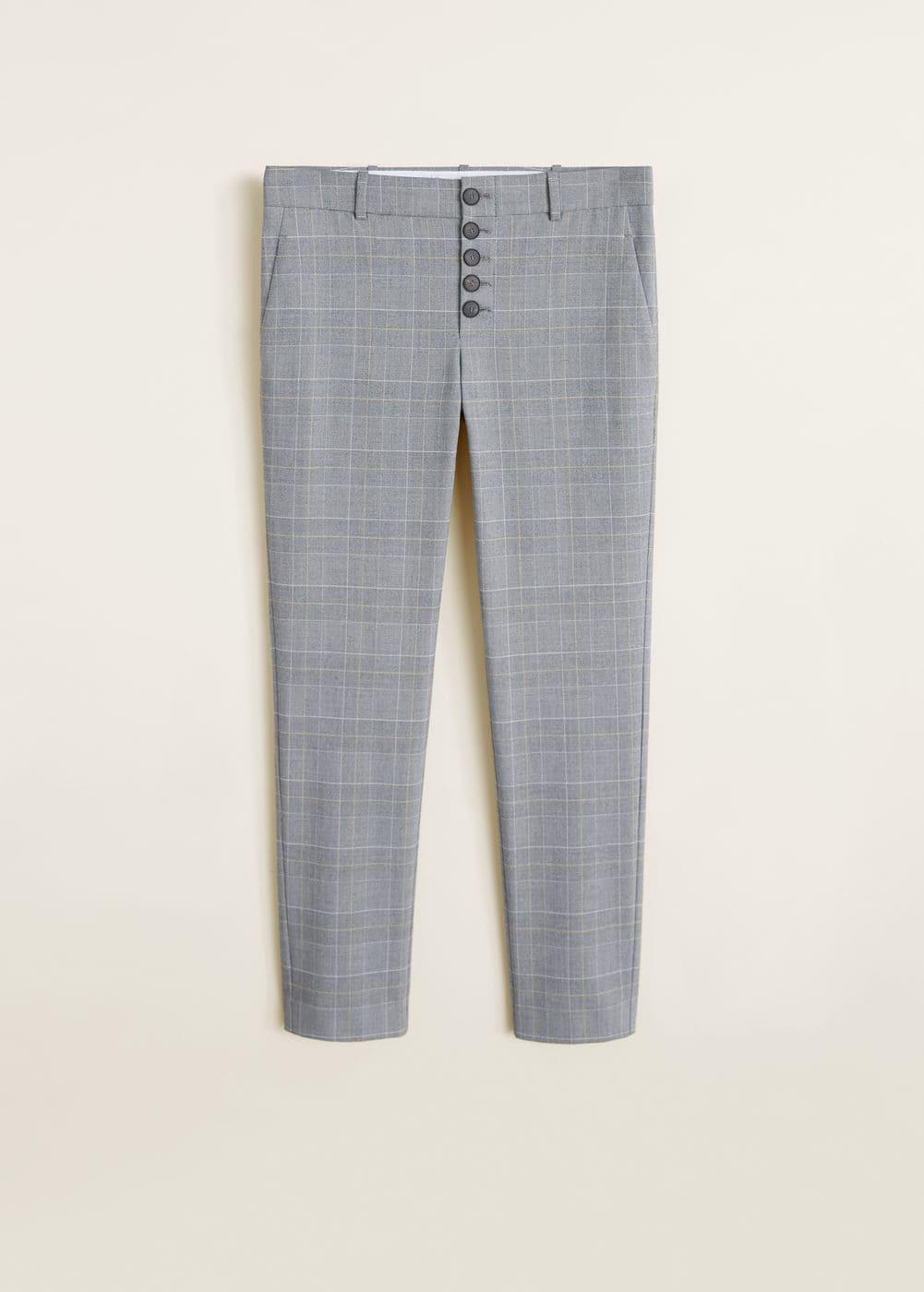 Mango - Buttons cotton trousers - 5