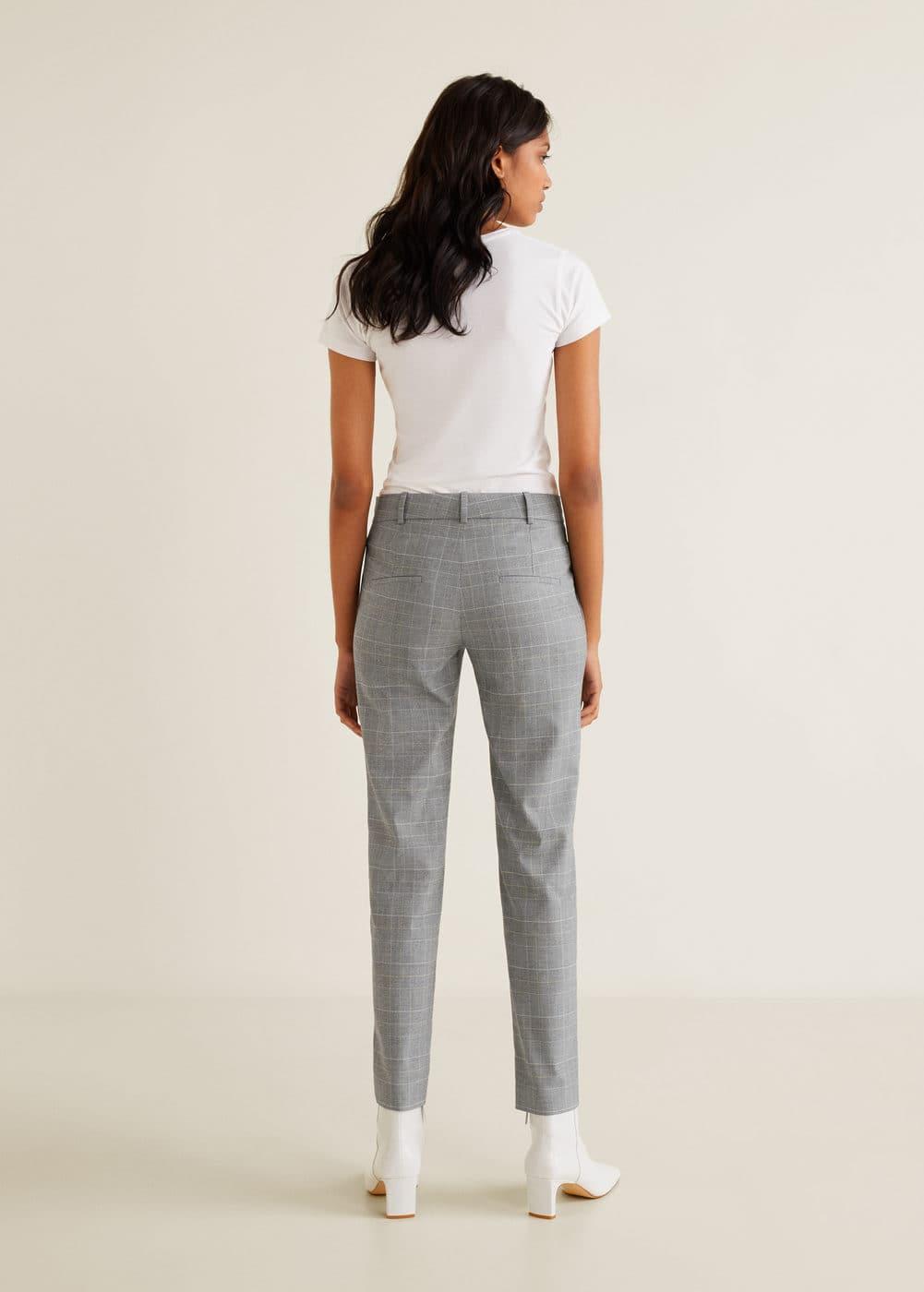 Mango - Pantalón algodón botones - 3