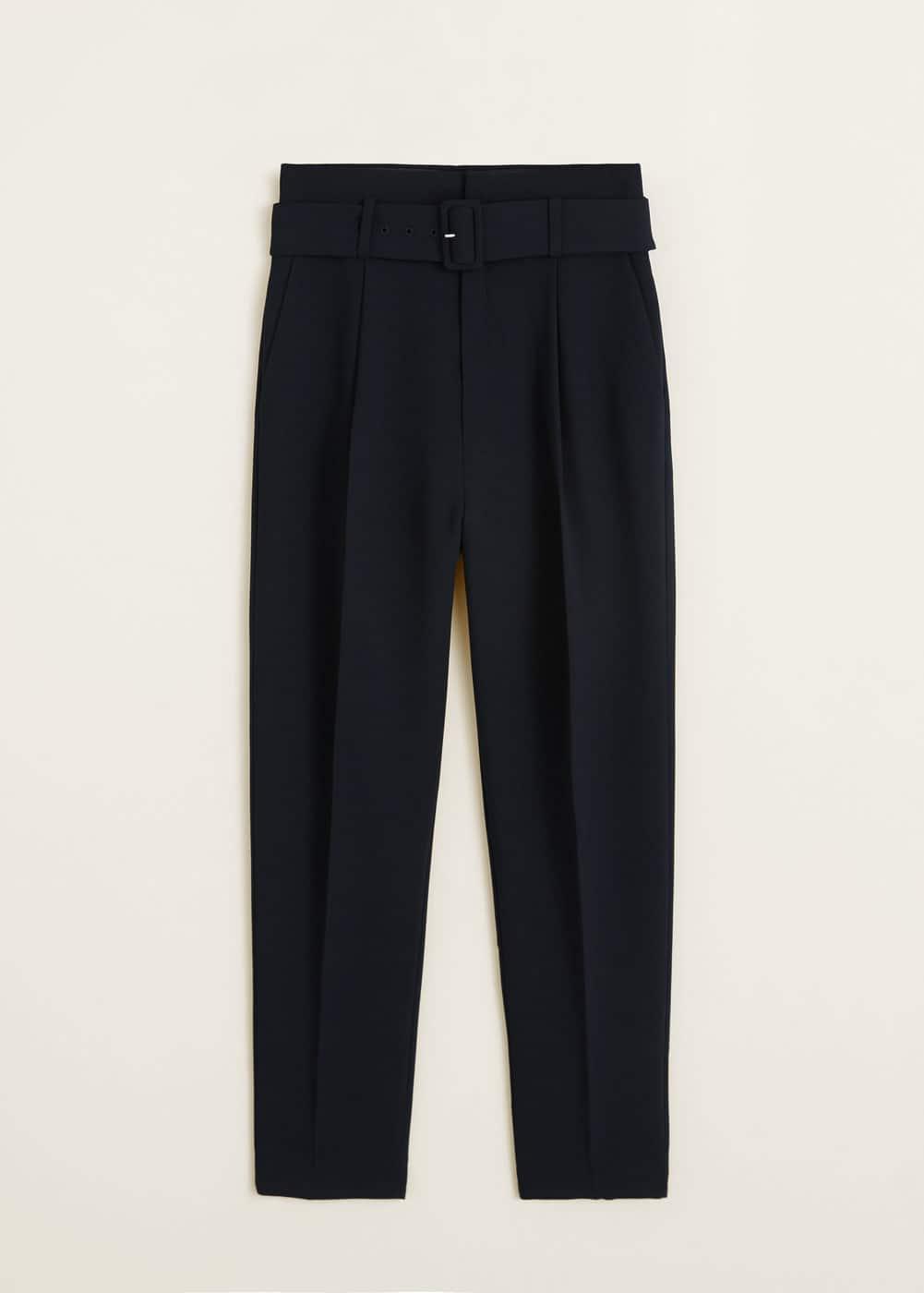 Mango - Belt high-waist trousers - 7