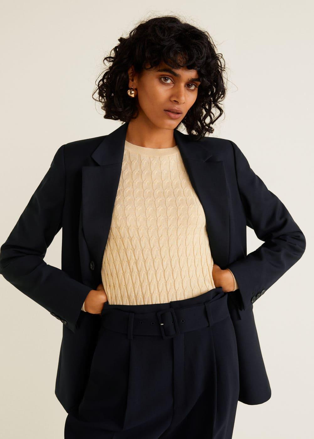 Mango - Belt high-waist trousers - 5