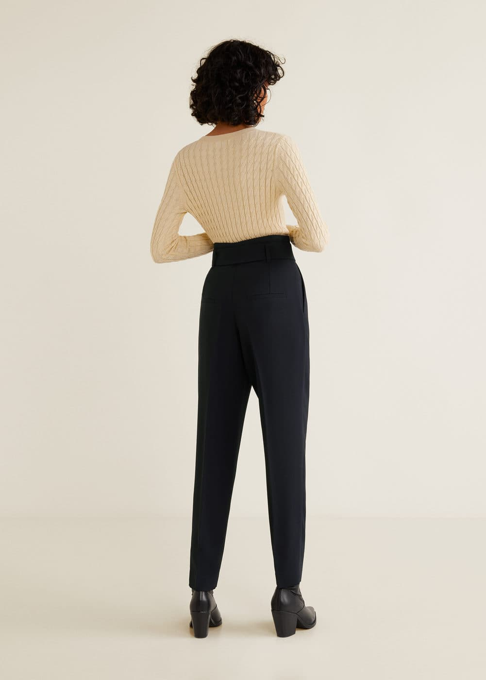 Mango - Belt high-waist trousers - 3
