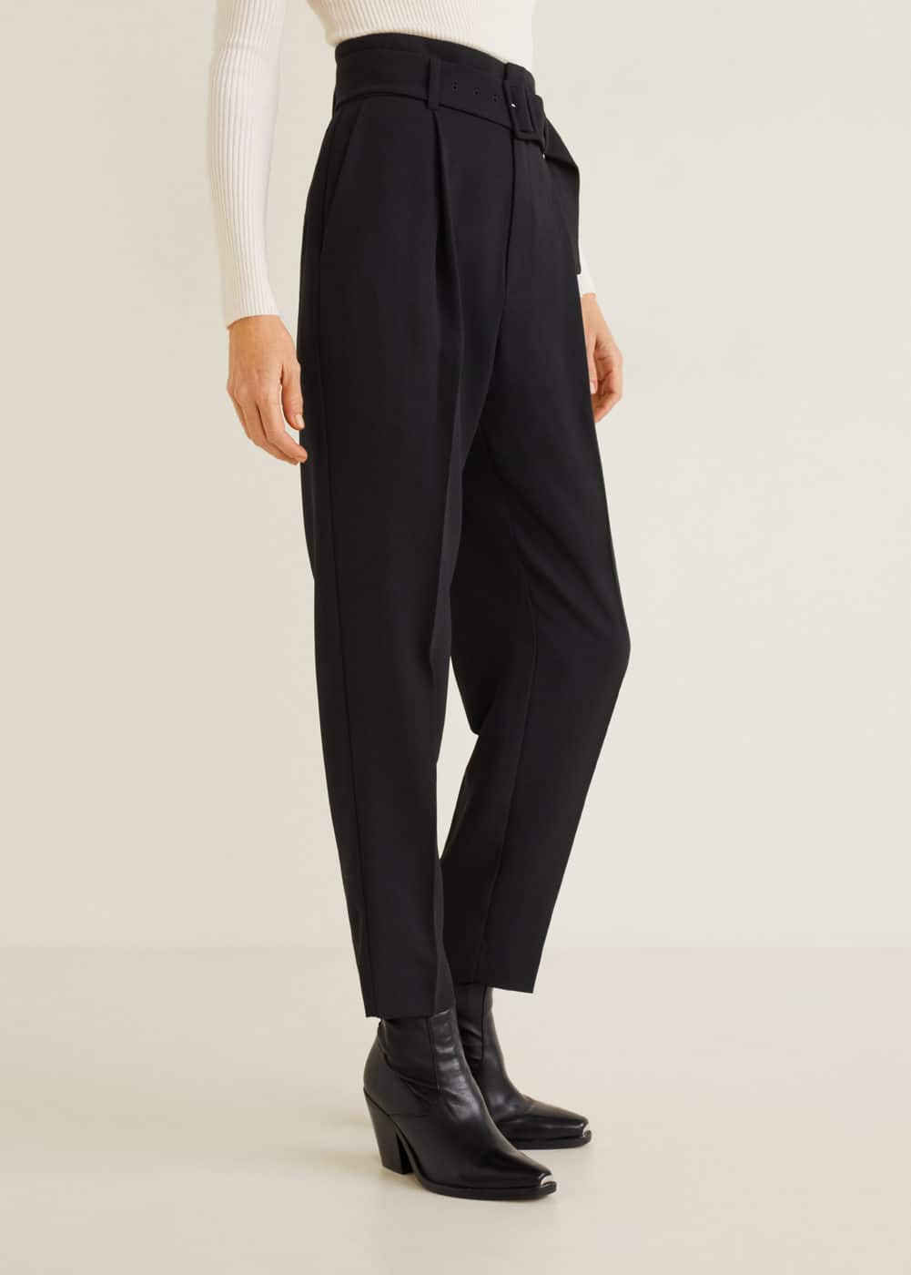 Mango - Belt high-waist trousers - 4