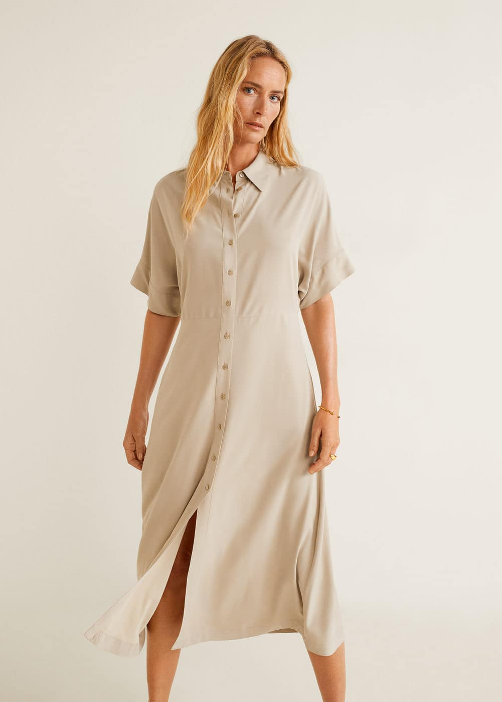Lang Skjortekjole by Mango