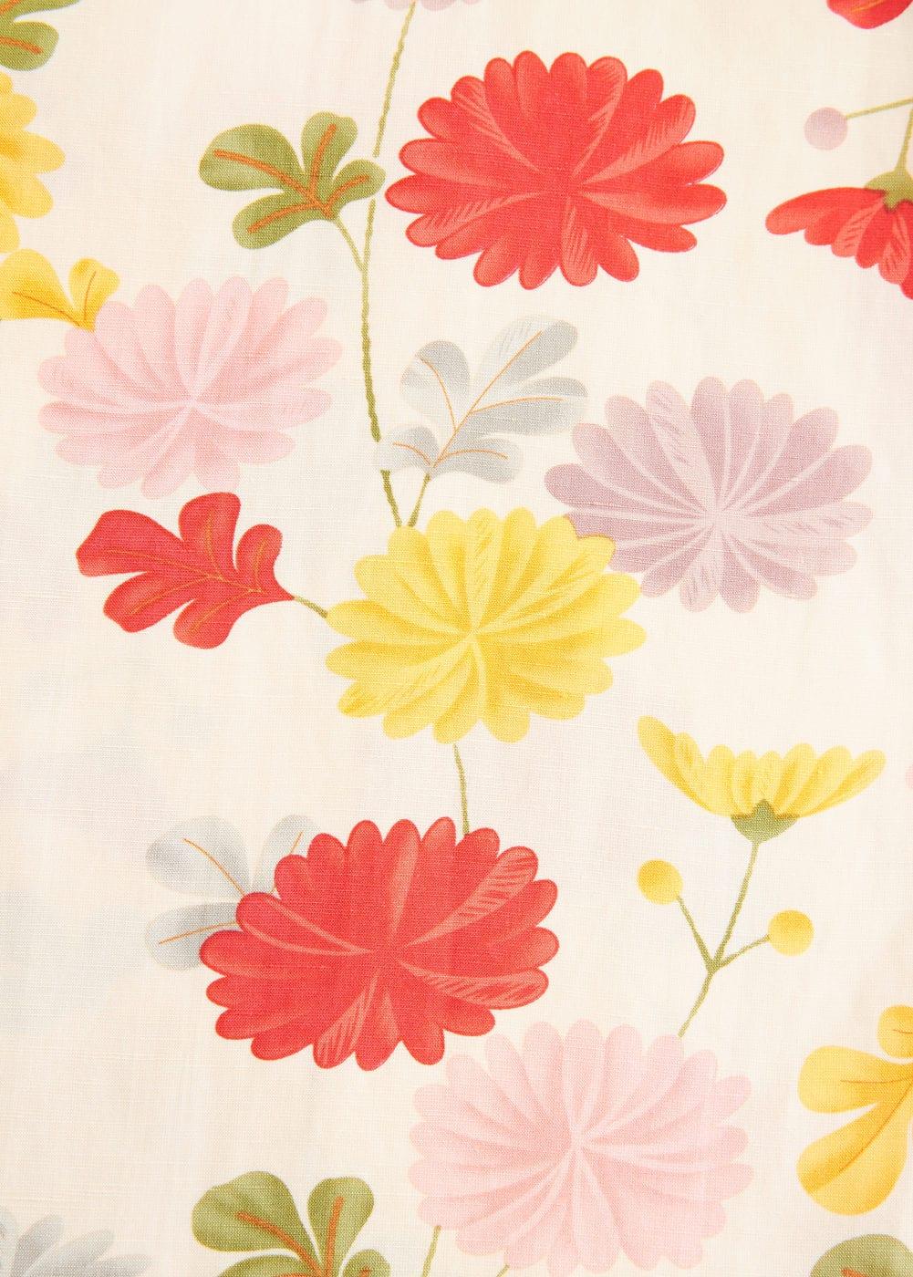 Mango - Flower linen-blend jumpsuit - 8
