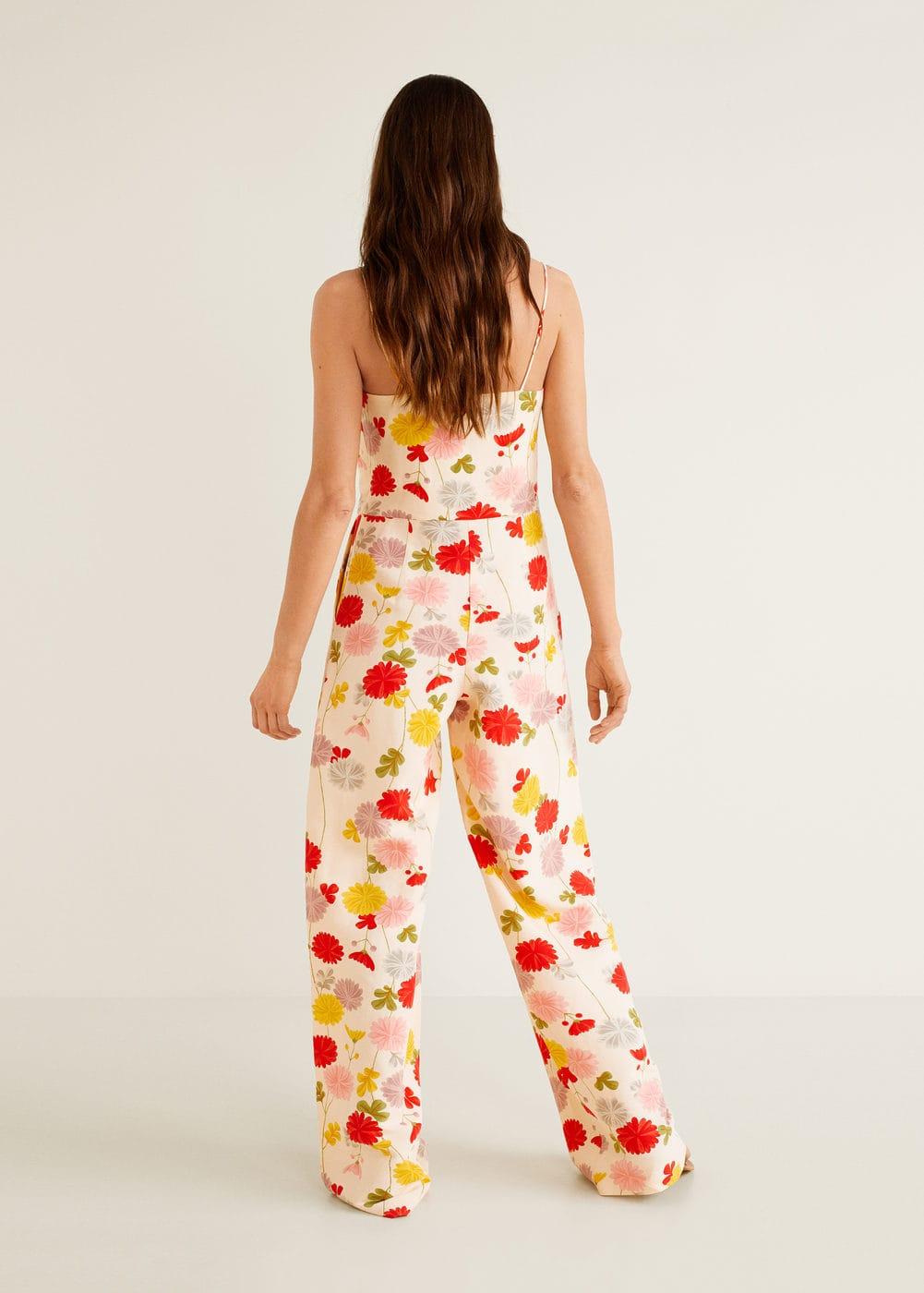 Mango - Flower linen-blend jumpsuit - 3