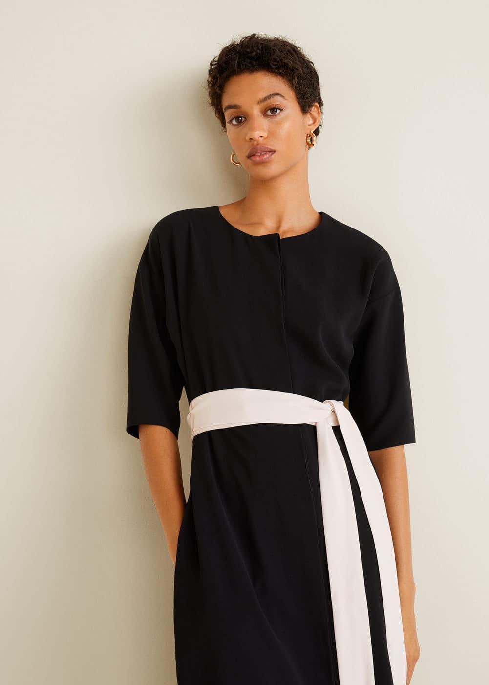 Mango - Bow bicolor dress - 1