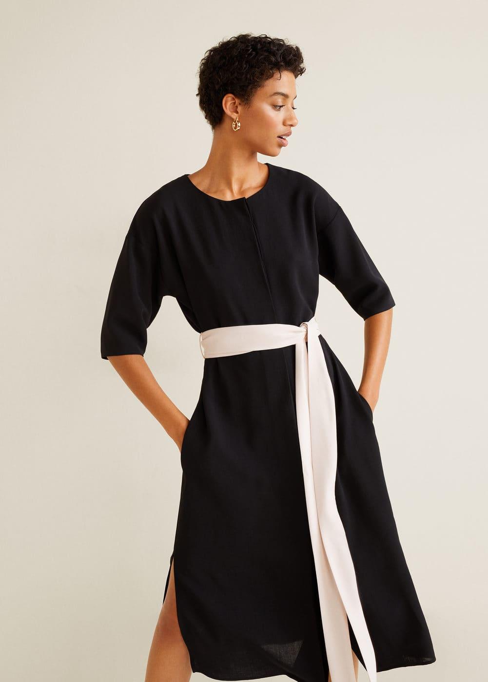 Mango - Bow bicolor dress - 6