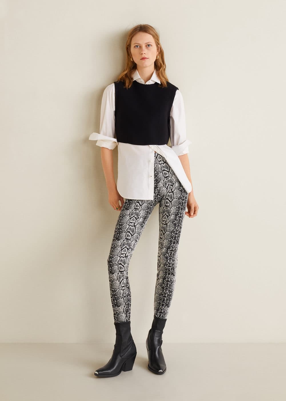 m-spicy:leggings estampado serpiente