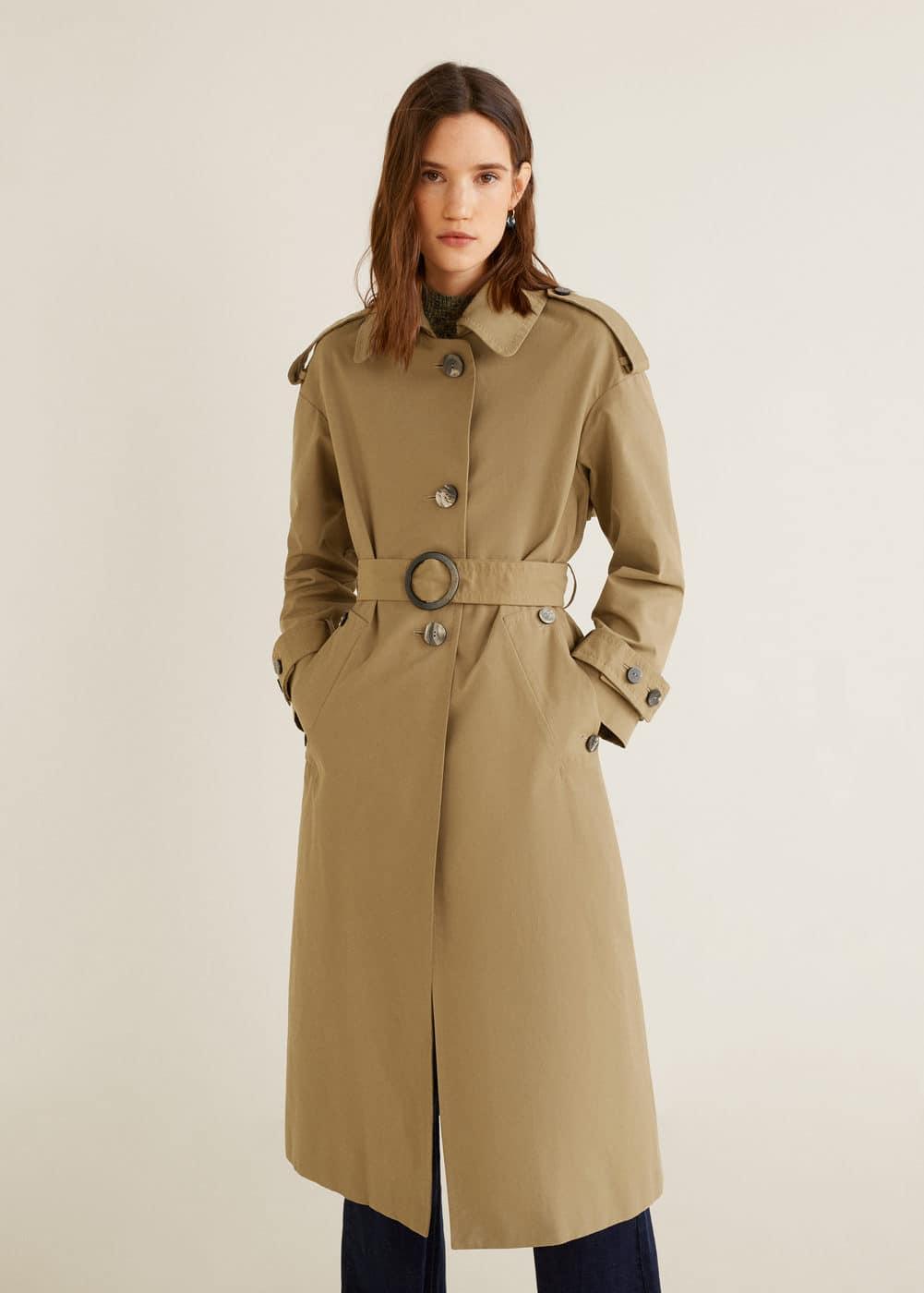 12ce1cbbd2 Trench coton ceinture - Femme | Mango Tunisie