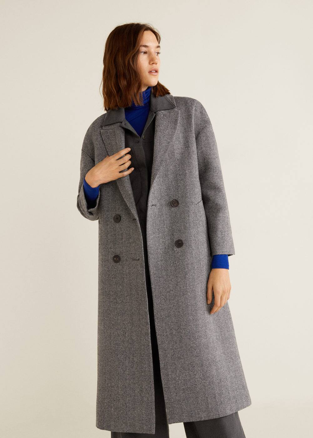 m-picasso:abrigo lana desestructurado