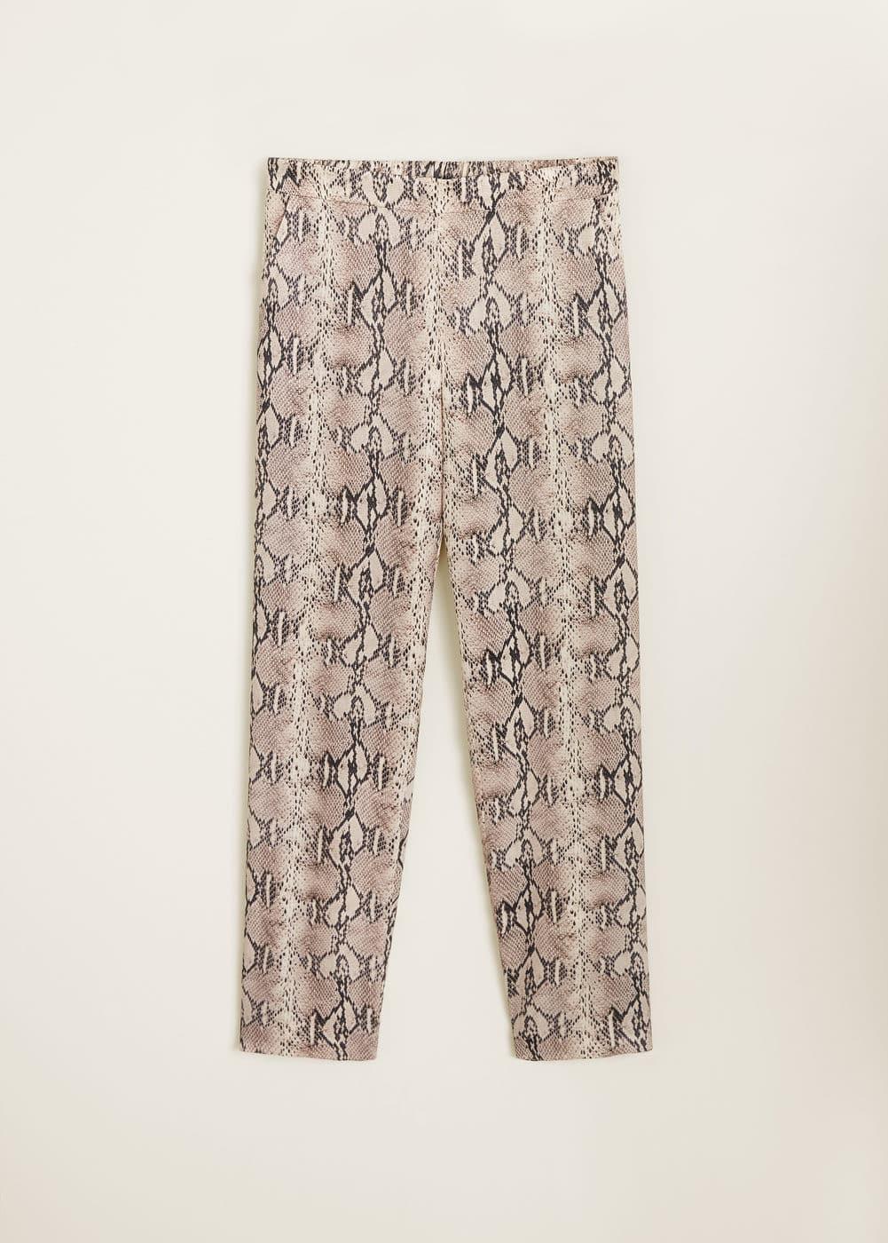 Mango - Snake print trousers - 8