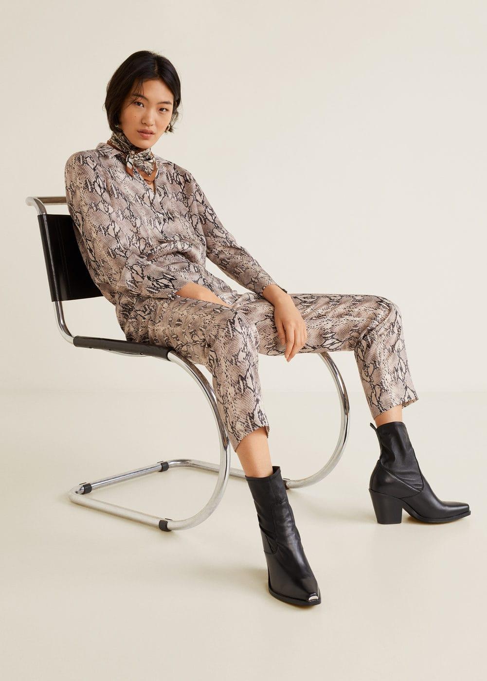 Mango - Snake print trousers - 5