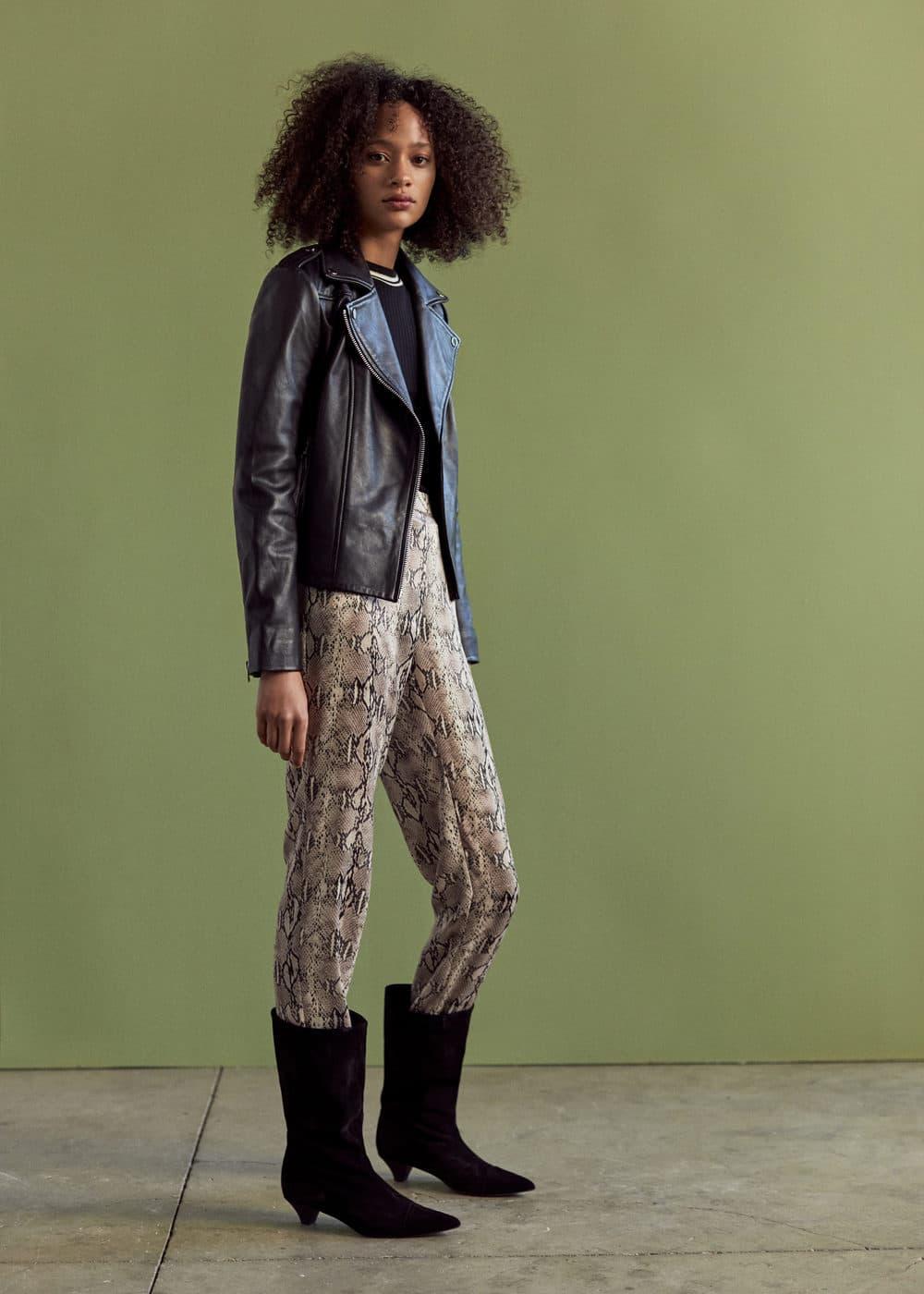 Mango - Snake print trousers - 1