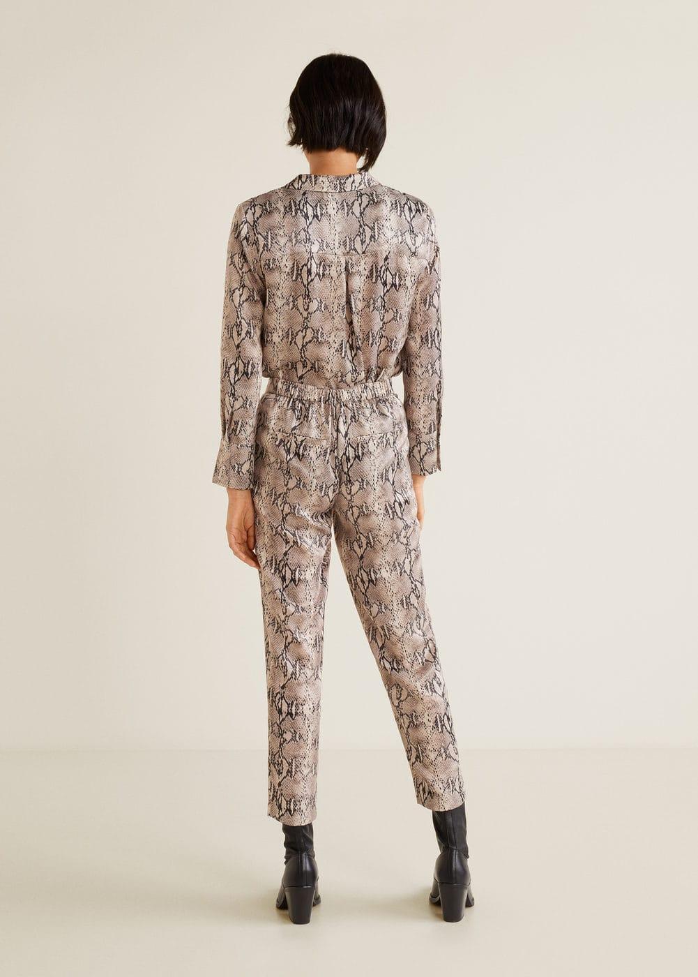 Mango - Snake print trousers - 4
