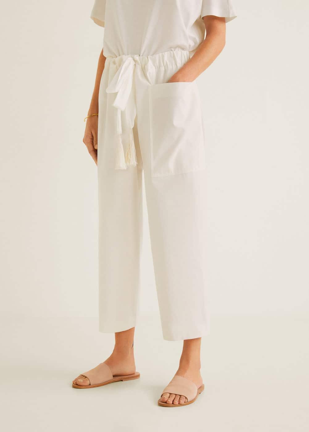 Organic Cotton Trousers by Mango