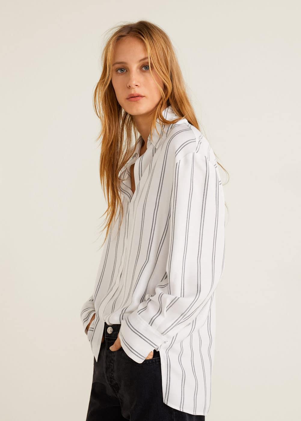 m-fluff:camisa rayas oversize