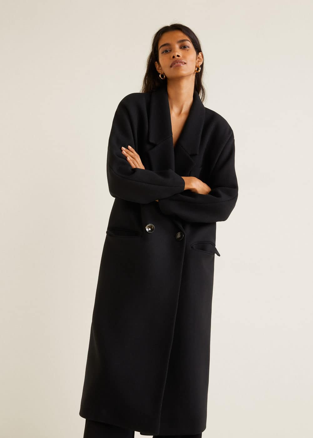 Unstructured Wool Blend Coat by Mango