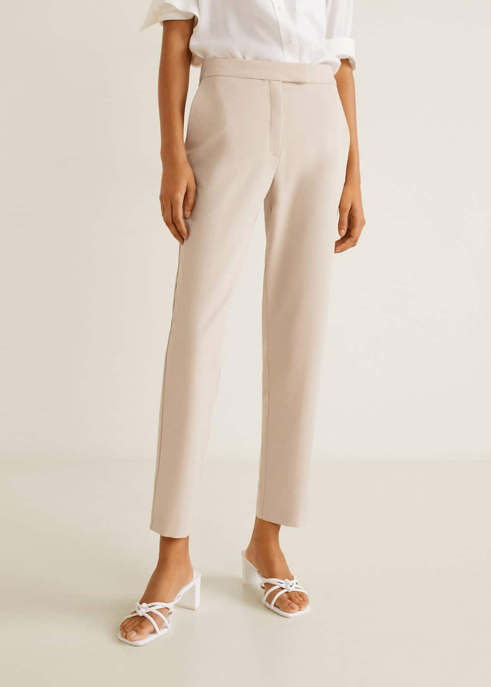 b8e8f1597053 Straight suit trousers - Woman