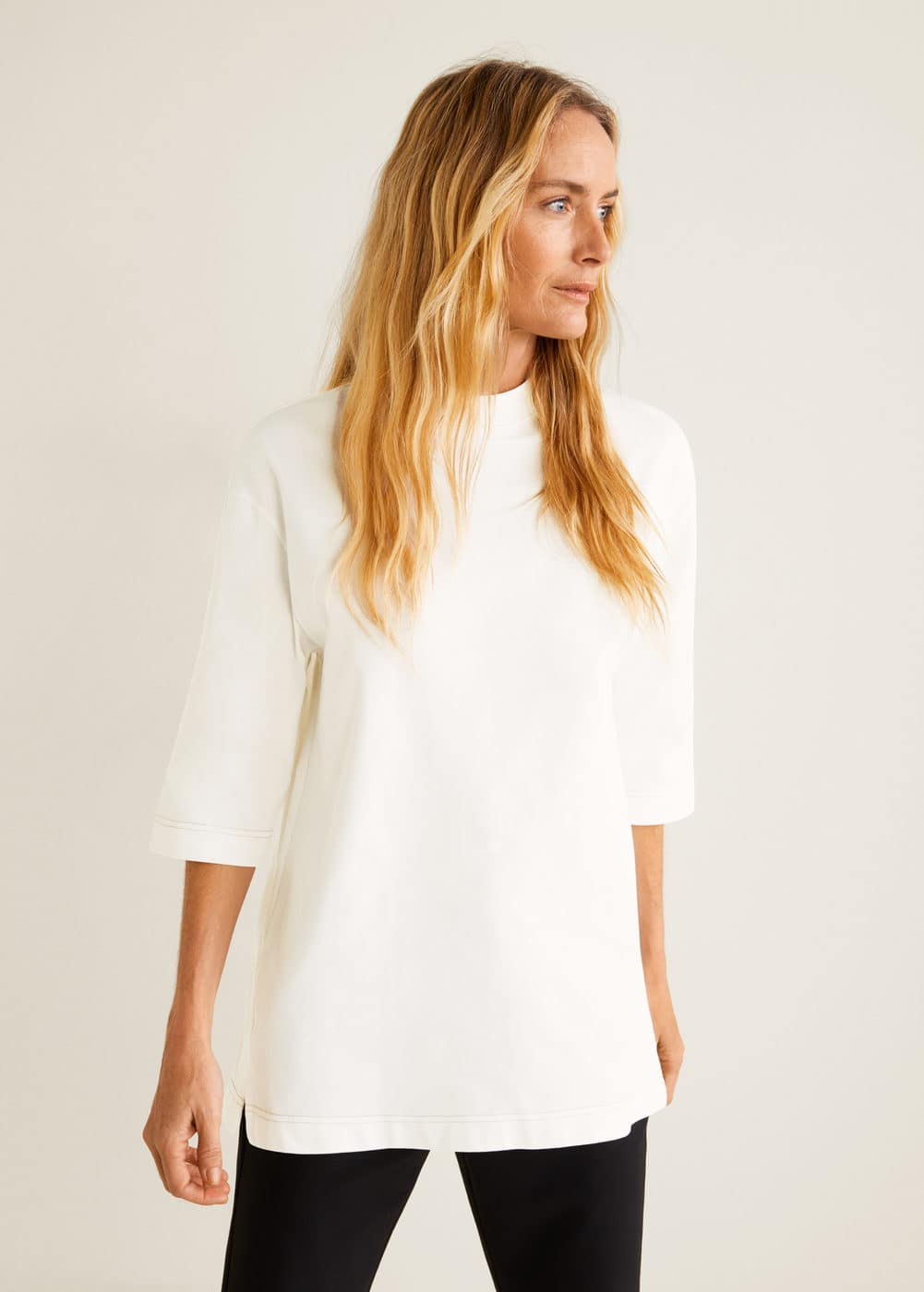 Mango - T-shirt oversize coton - 1