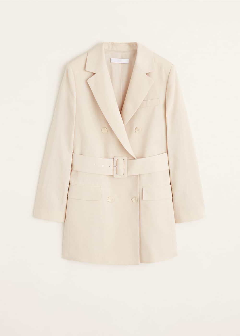 腰带结构外套 by Mango