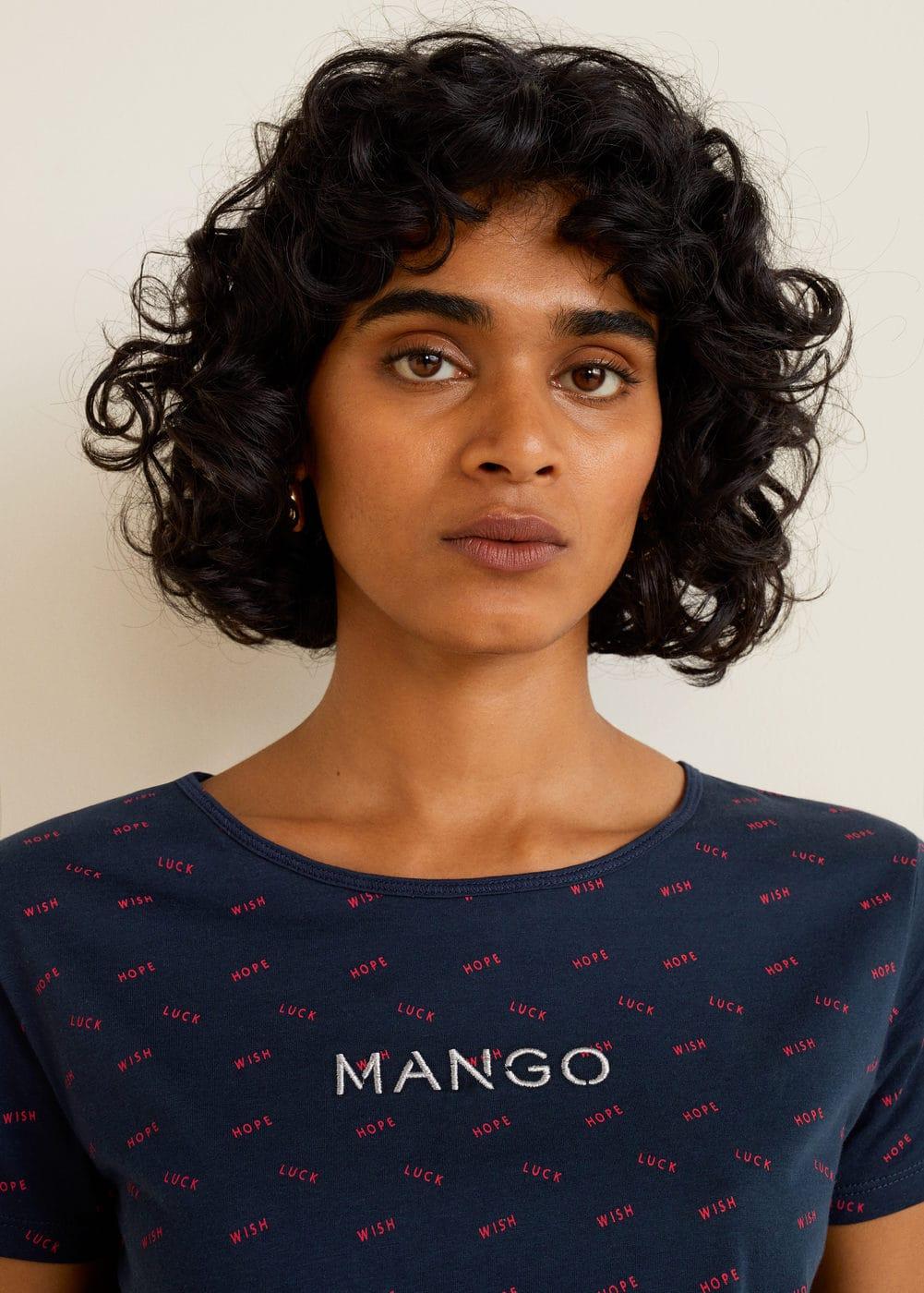 Mango - Embroidered logo t-shirt - 4