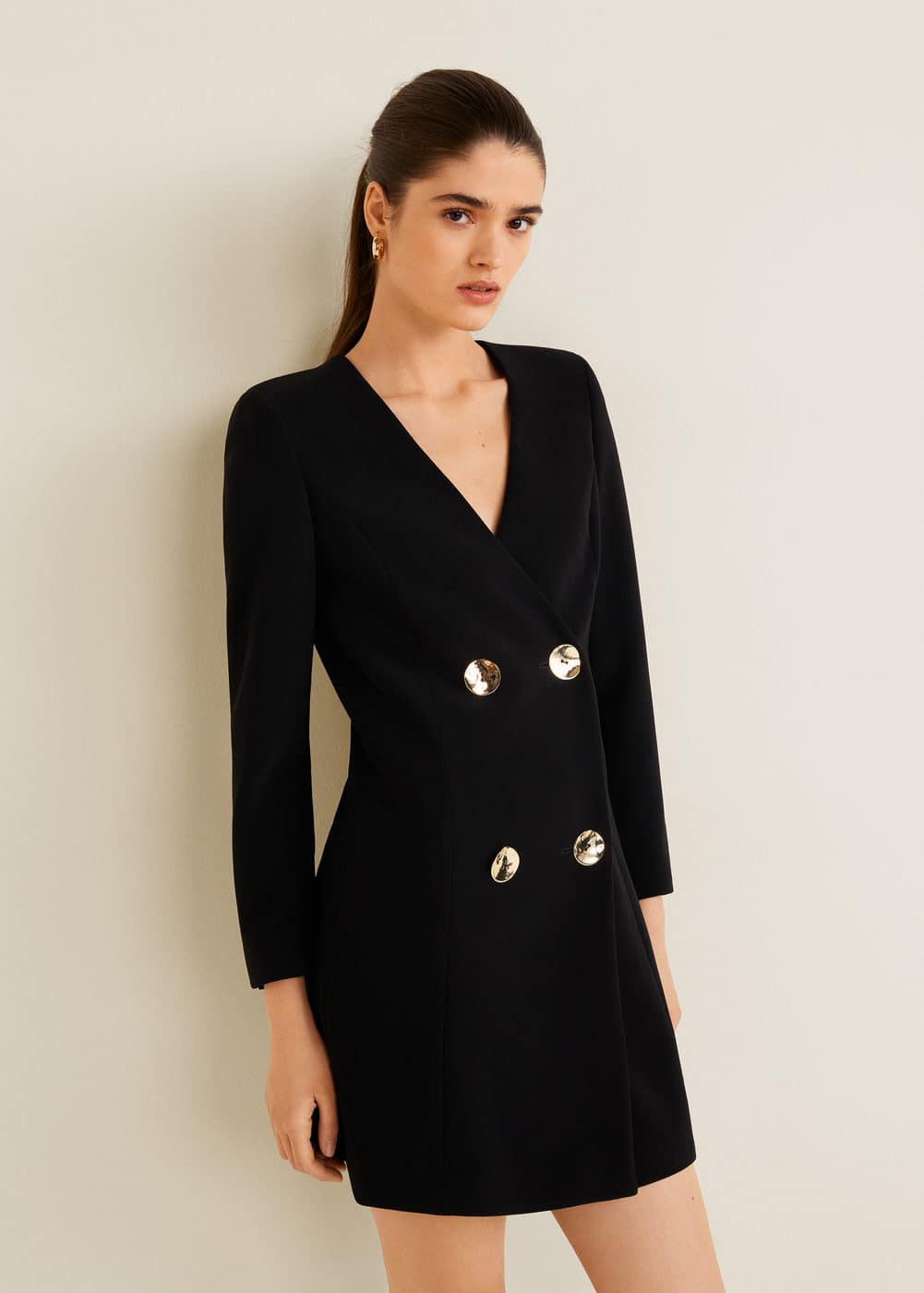 Mango - Double-breasted structured dress - 2
