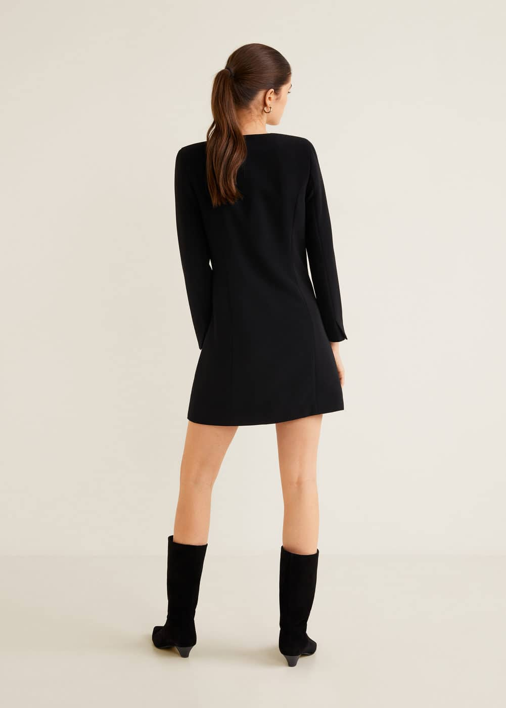 Mango - Double-breasted structured dress - 4