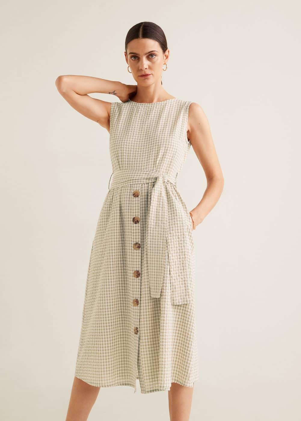 Sukienka Tekstura W Pasy by Mango