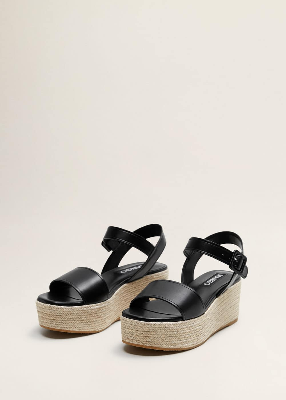 Wedge Republic Braided Sandals WomanMango Czech 34RjqA5L