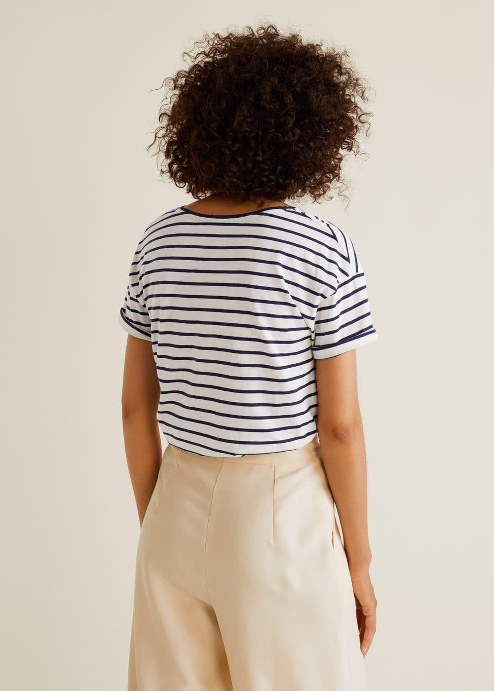 Mango - Camiseta básica escote pico - 3