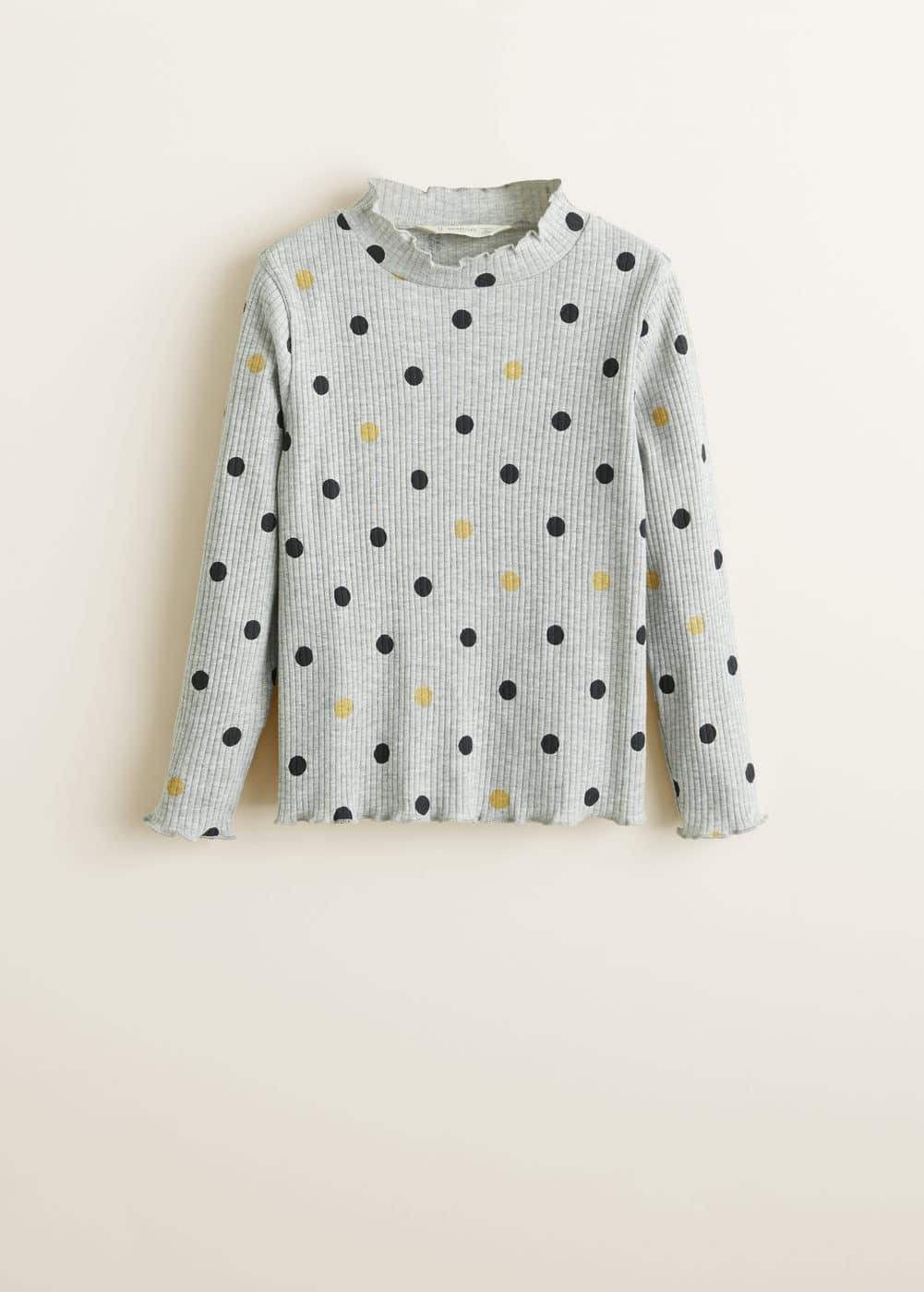 Mango - Camiseta canalé lunares - 3