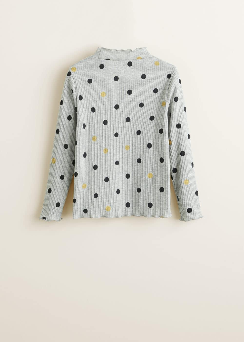 Mango - Camiseta canalé lunares - 6