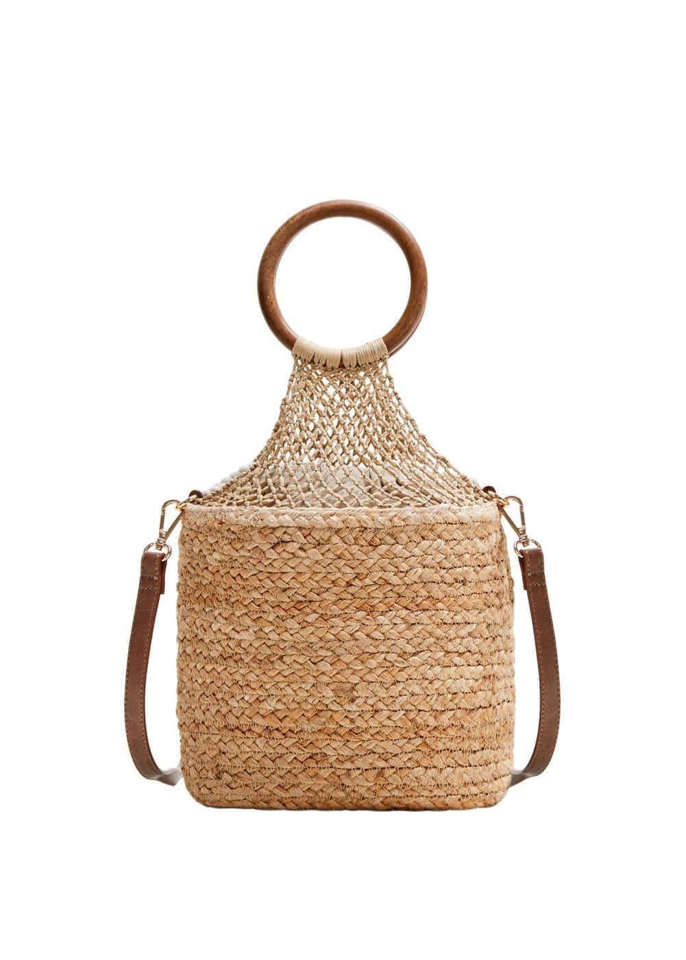 0a116272a Bolso saco yute - Mujer | Mango España