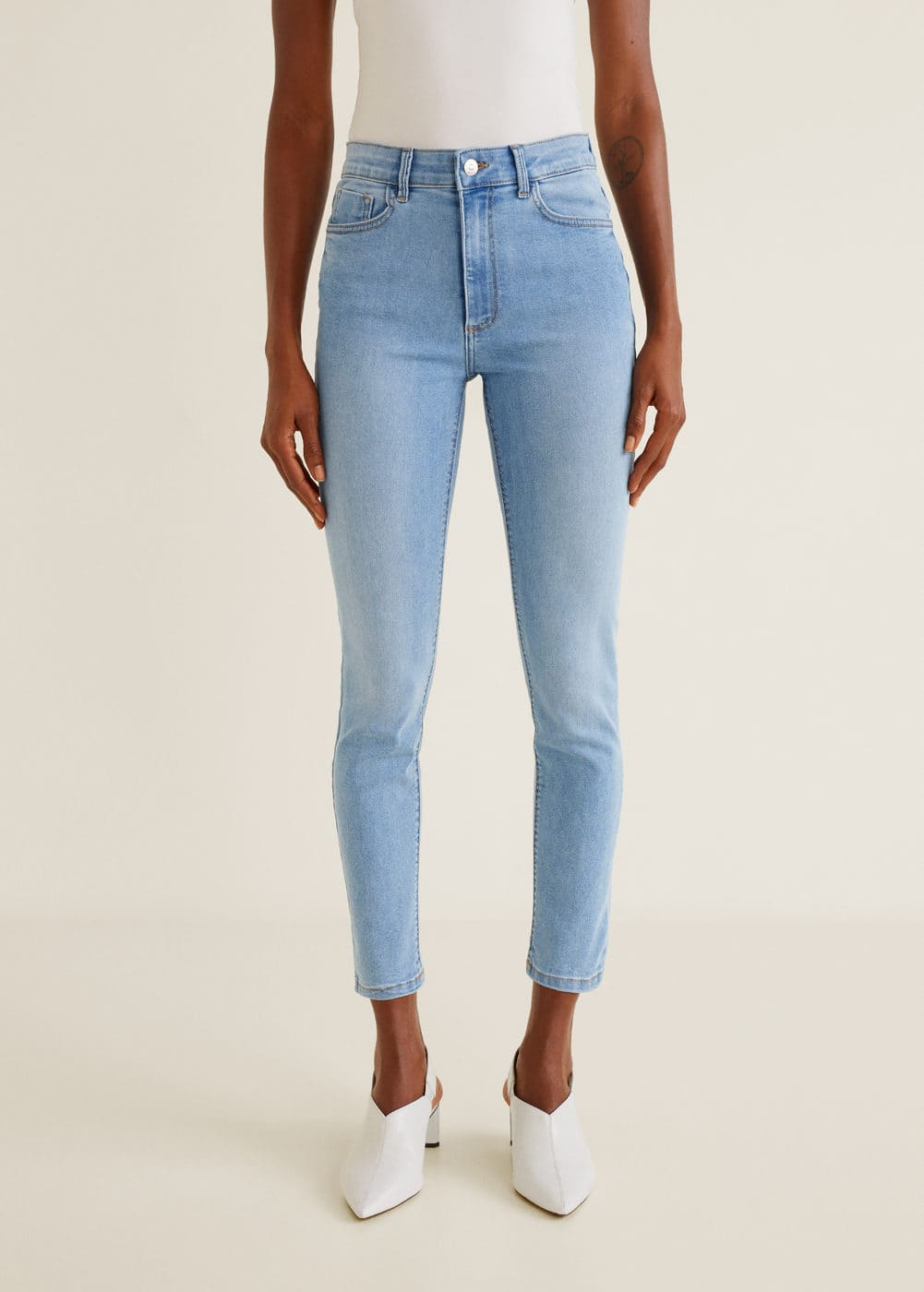 Women/'s High Waist Jeans Size 6 Mango Noa Sky Blue Skinny Jeans